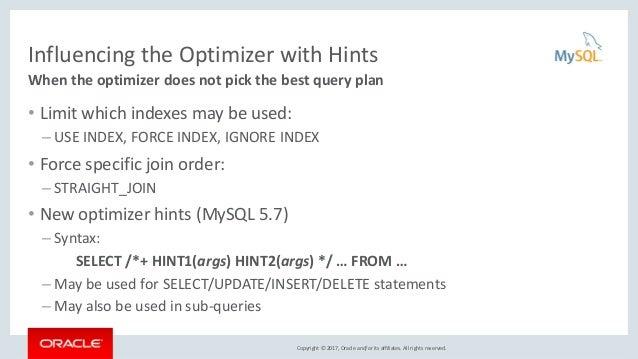 Using Optimizer Hints to Improve MySQL Query Performance