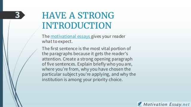 hints and tips for writing a motivation essay