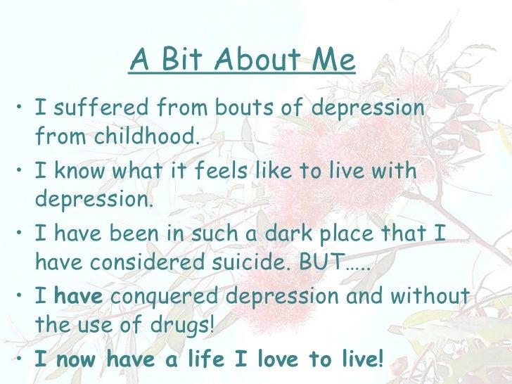 Hints for Conquering Depression Slide 2