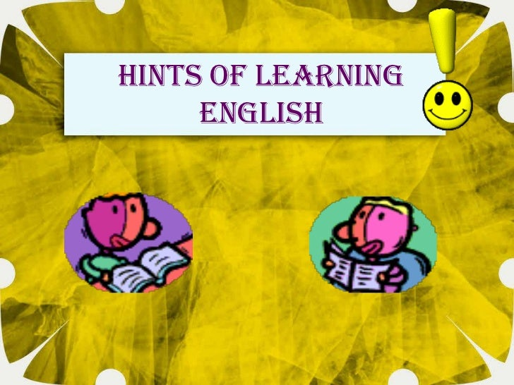 Hints of learning     English