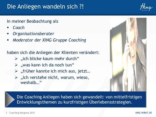 Coaching auf Tütensuppenniveau Slide 2