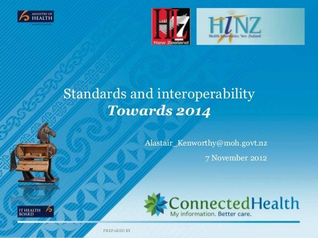 Standards and interoperability      Towards 2014                    Alastair_Kenworthy@moh.govt.nz                        ...