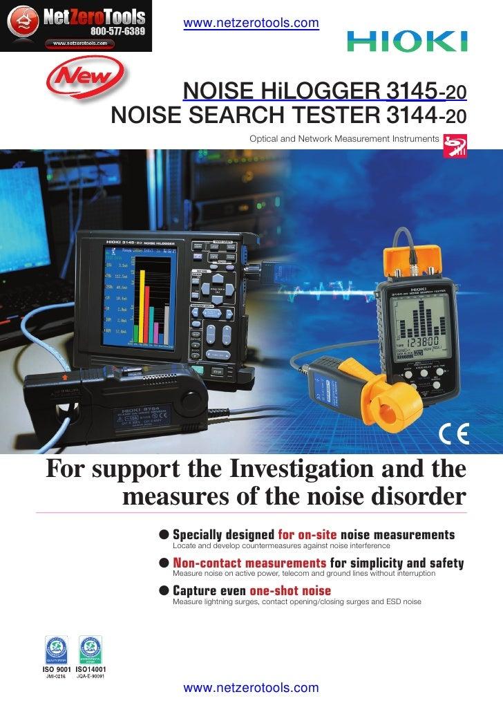 Hioki 3145-20 Noise Logger