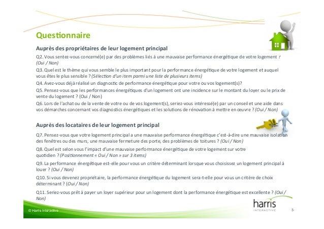 Les Français et la performance énergétique de leur logement Slide 3