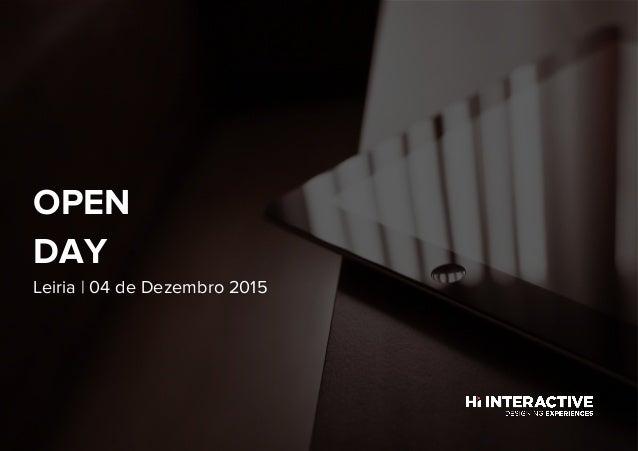 Leiria | 04 de Dezembro 2015 OPEN DAY