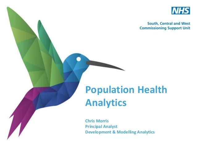 Population Health Analytics Chris Morris Principal Analyst Development & Modelling Analytics