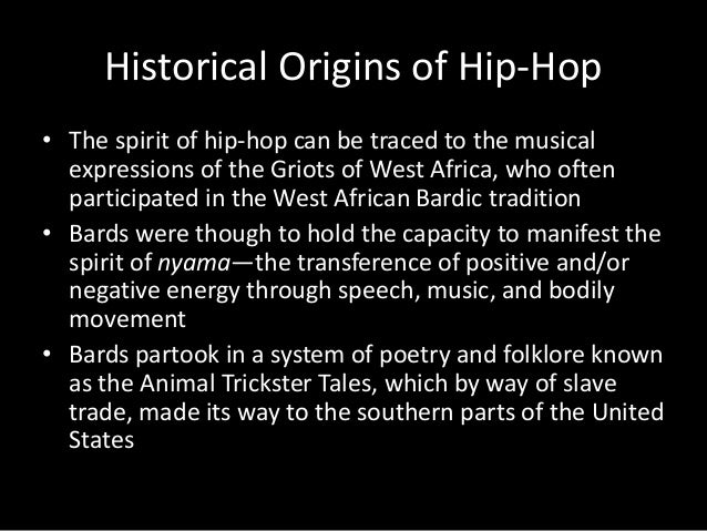 Hip hop presentation.