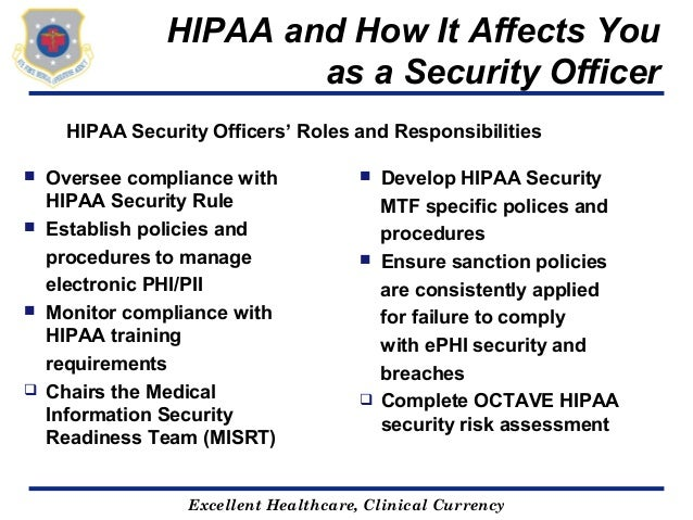 Hipaa - Qualifications for compliance officer ...