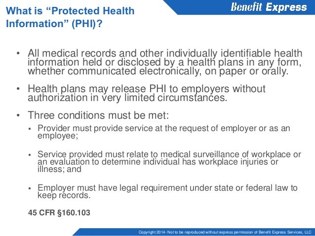releasing protected health information Assure that all release forms and written procedures are in compliance with hipaa and pertinent state regulations, statutes or laws refer to mmic's sample form, authorization to release protected health information.