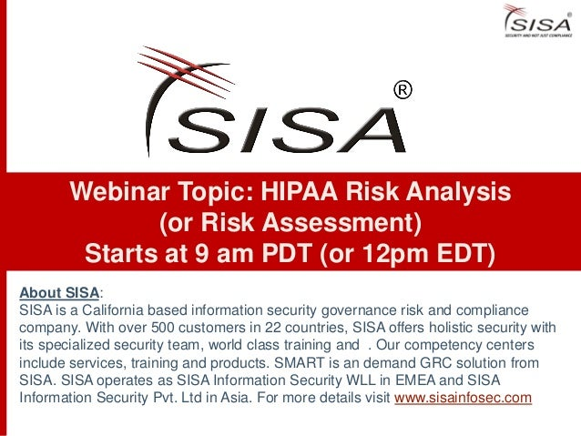 About SISA:SISA is a California based information security governance risk and compliancecompany. With over 500 customers ...