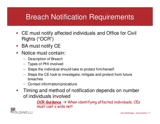 6 real challenges real answers sm breach notification