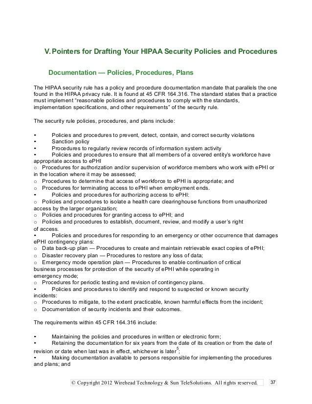 Hipaa Policy Template Romeolandinezco - Hipaa policies and procedures templates