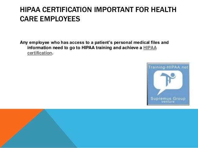 Importance Of HIPAA Certification Training