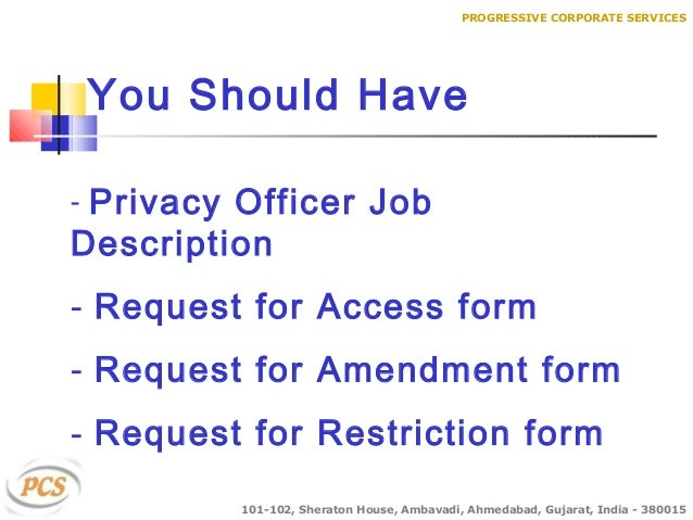 Hipaa compliance - Corporate compliance officer job description ...