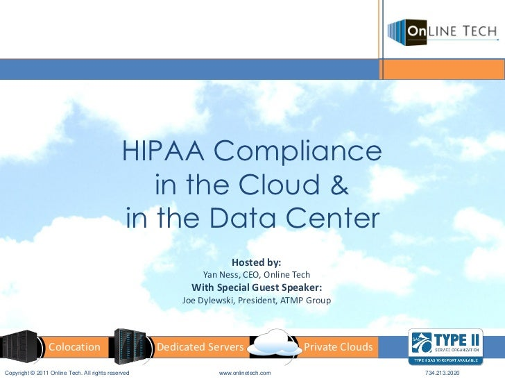 HIPAA Compliance                                                in the Cloud &                                            ...