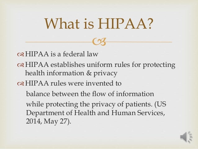 hipaa and information technology5  hipaa is a federal law