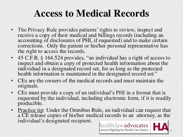 HIPAA Access Medical Records by Sainsbury-Wong