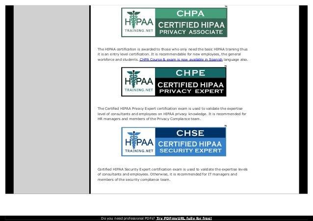 Hipaa training and certification