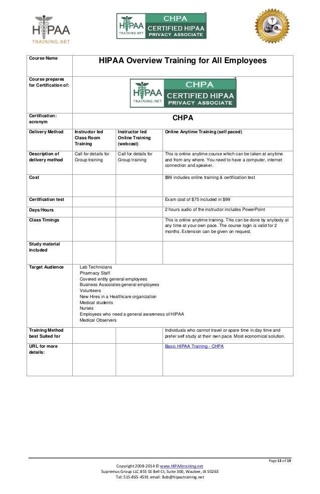 Hipaa Training Certificate Template Kubreforic