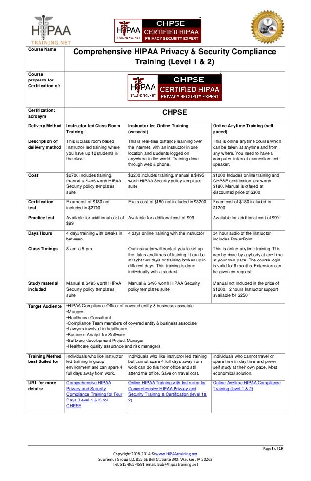 Hipaa training comparison yelopaper Gallery