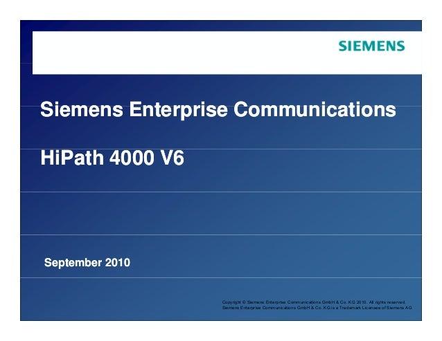 Siemens Enterprise Comm nicationsSiemens Enterprise Comm nicationsSiemens Enterprise CommunicationsSiemens Enterprise Comm...