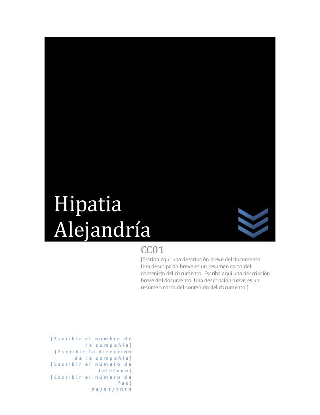 HipatiaAlejandría                          CC01                          [Escriba aquí una descripción breve del documento...