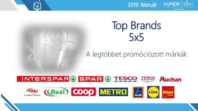 2019. január2019. február Top Brands 5x5 A legtöbbet promóciózott márkák
