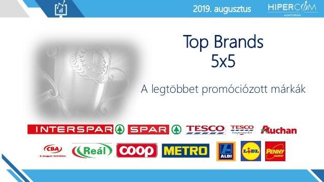 2019. január2019. augusztus Top Brands 5x5 A legtöbbet promóciózott márkák