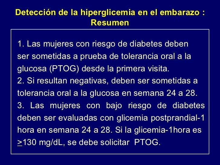Hiperglicemia en el embarazo