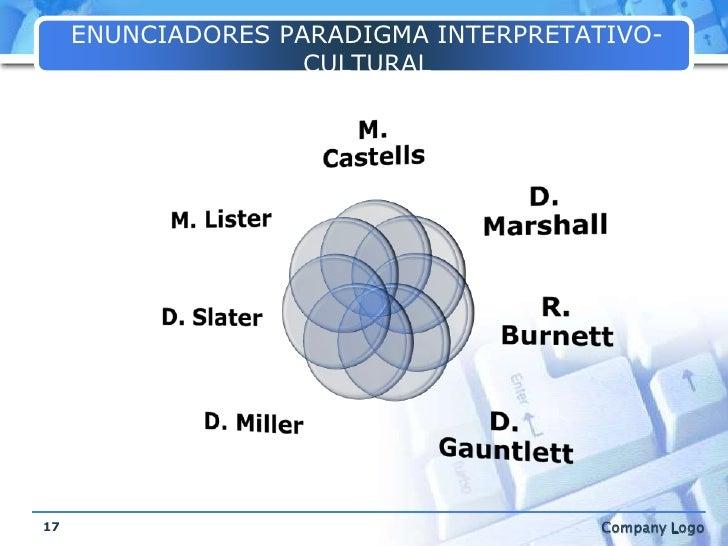 ENUNCIADORES PARADIGMA INTERPRETATIVO-CULTURAL<br />17<br />