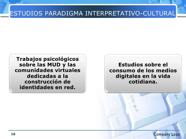 ESTUDIOS PARADIGMA INTERPRETATIVO-CULTURAL<br />18<br />