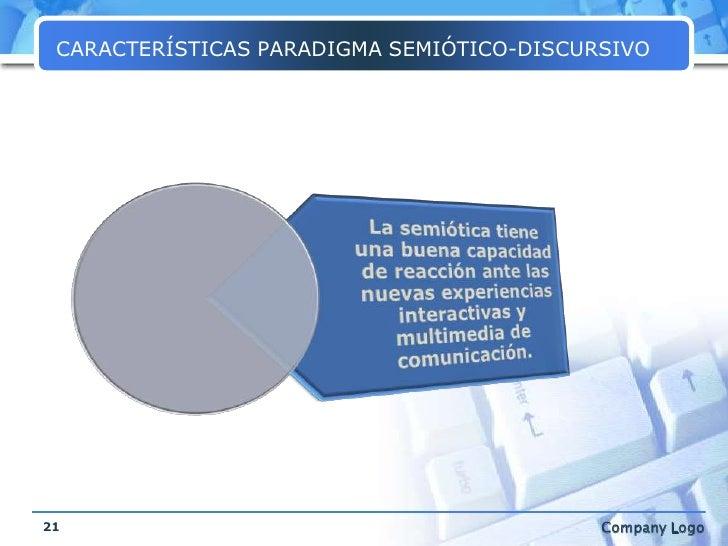 CARACTERÍSTICAS PARADIGMA SEMIÓTICO-DISCURSIVO<br />21<br />