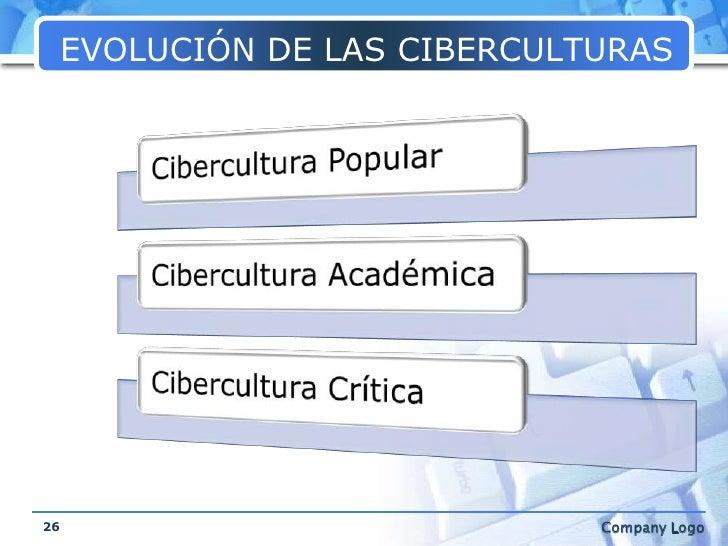 EVOLUCIÓN DE LAS CIBERCULTURAS<br />26<br />