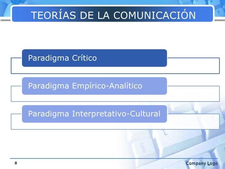 TEORÍAS DE LA COMUNICACIÓN<br />8<br />