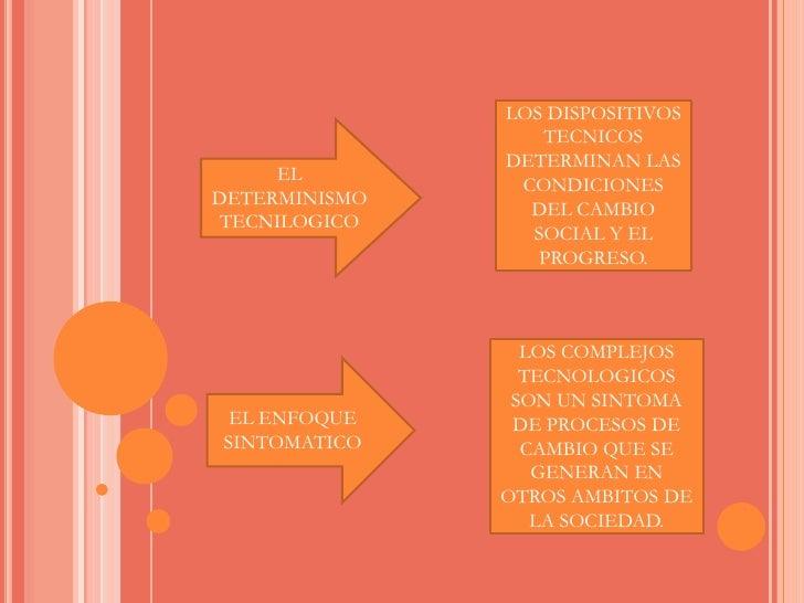 LOS DISPOSITIVOS TECNICOS DETERMINAN LAS CONDICIONES DEL CAMBIO SOCIAL Y EL PROGRESO.<br />EL DETERMINISMO TECNILOGICO<br ...