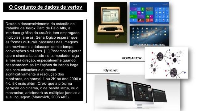 O Conjunto de dados de vertov  Desde o desenvolvimento da estação de trabalho da Xerox Parc de Palo Alto, a interface gr...