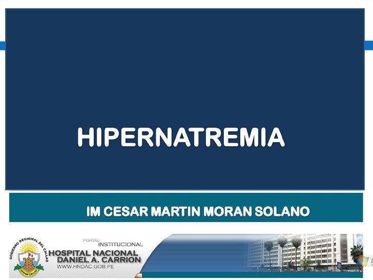 HIPERNATREMIA 2010 Slide 1