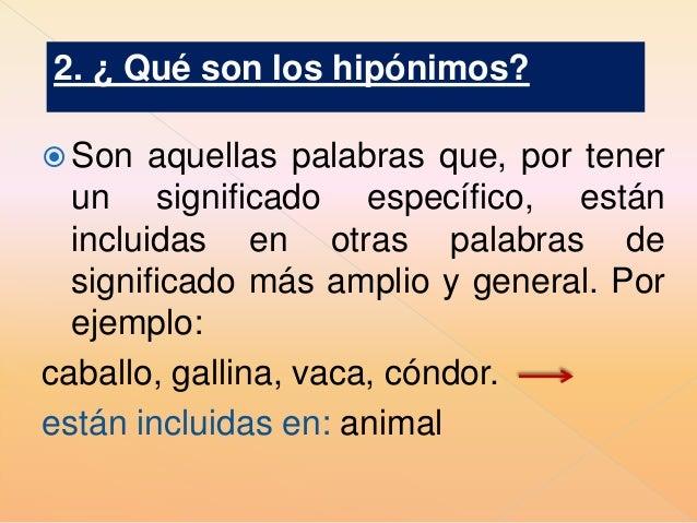 Q Son Los Lemures Hiperónimos e hip...