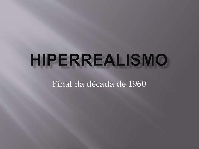 Final da década de 1960