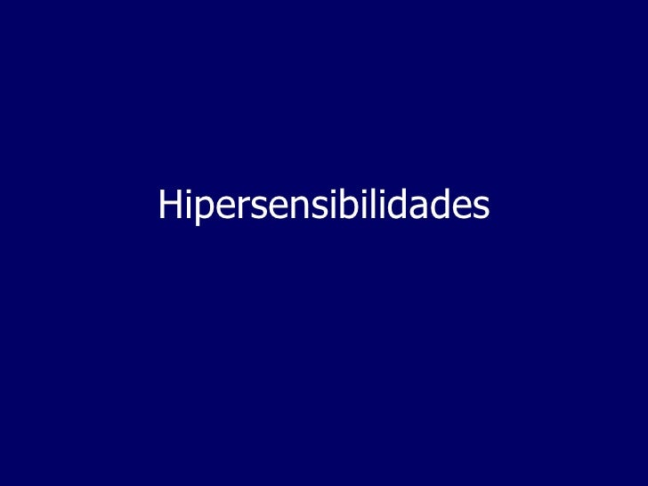 Hipersensibilidades