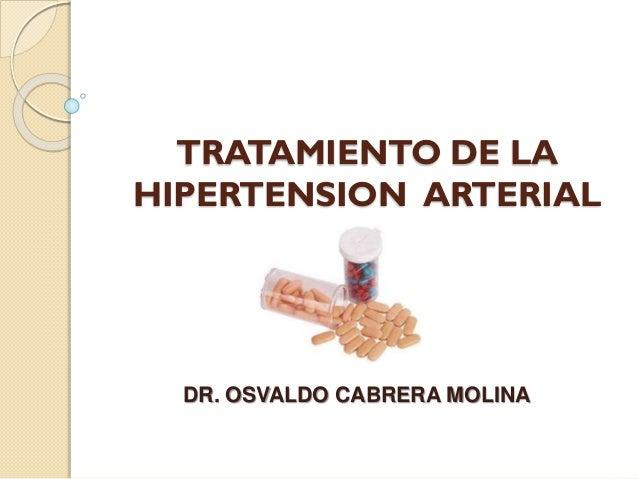 Hipertensión arterial. tx. farmacológico. (resumen) Dr..