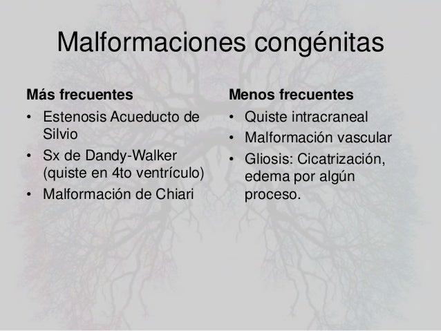 Hipertensión craneal, Hidrocefalia.