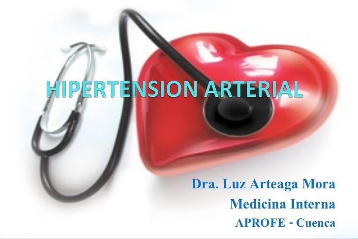 Dra. Luz Arteaga Mora Medicina Interna APROFE - Cuenca