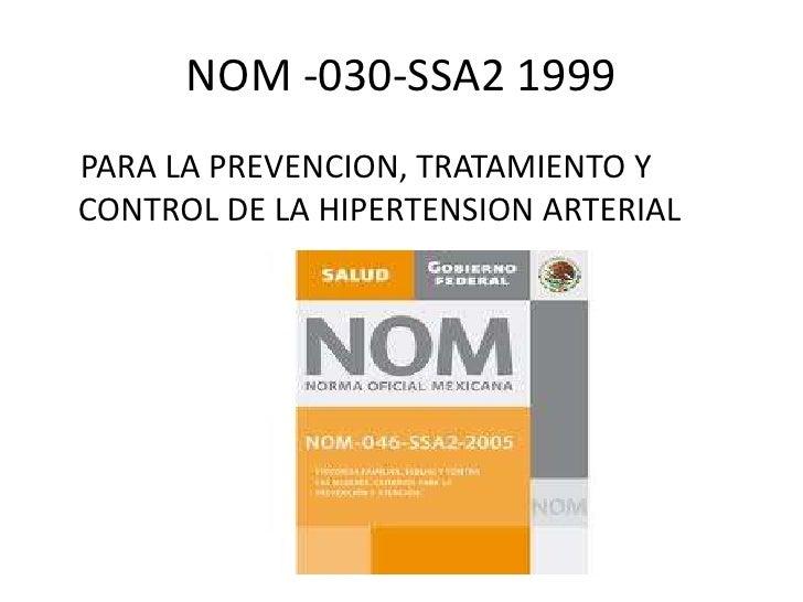 Nom De Hipertension Arterial Pdf