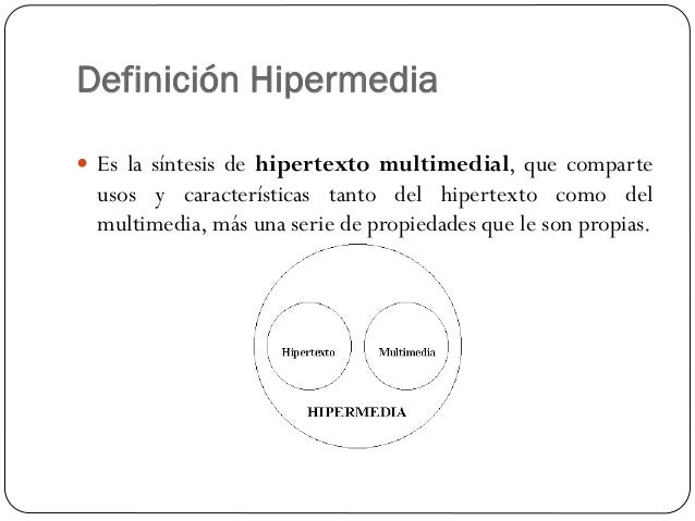 Hipertextos e hipermedia - Definicion de multimedia ...
