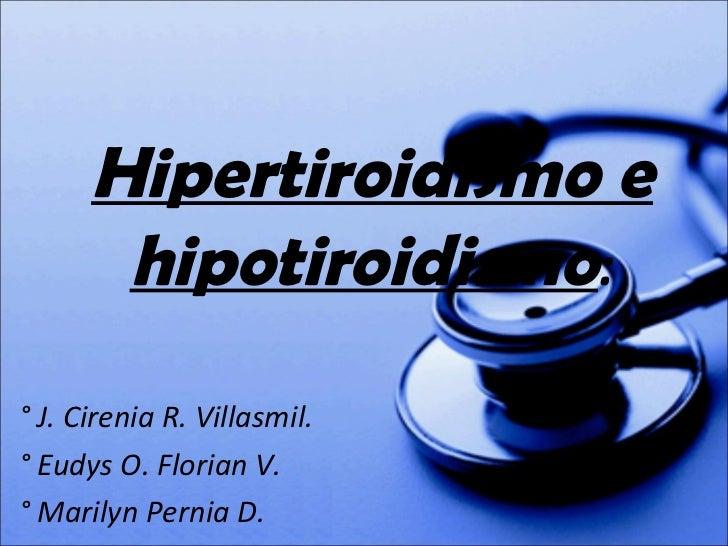 Manejo odontologico de px con hipotiroidismo e hipertiroidismo.