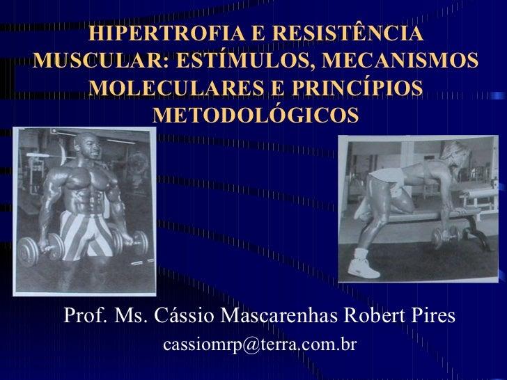 HIPERTROFIA E RESISTÊNCIA MUSCULAR: ESTÍMULOS, MECANISMOS MOLECULARES E PRINCÍPIOS METODOLÓGICOS Prof. Ms. Cássio Mascaren...