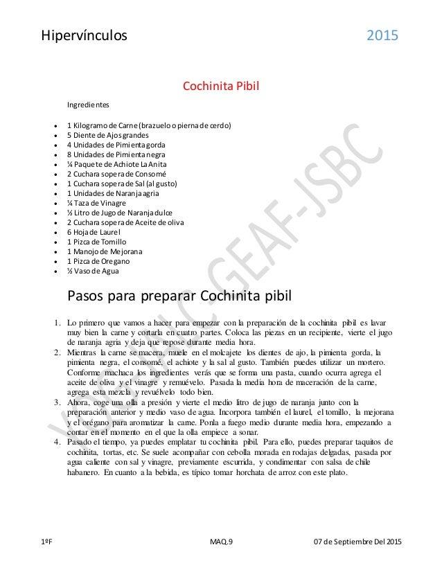 como preparar cochinita
