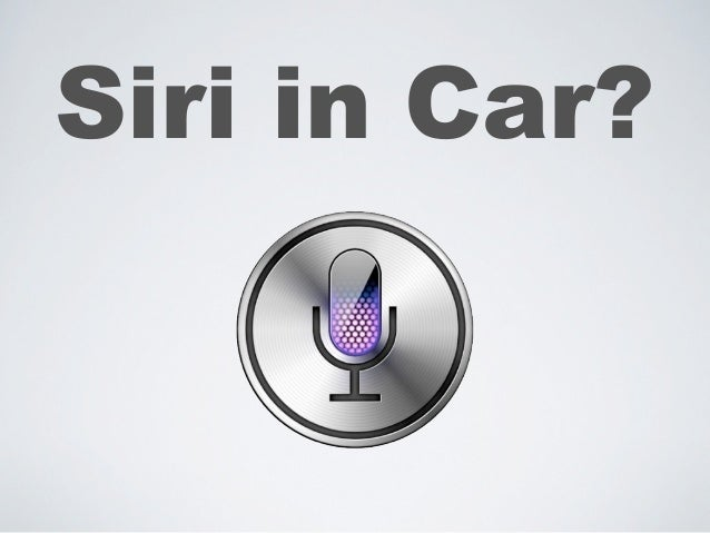 Siri in Car?