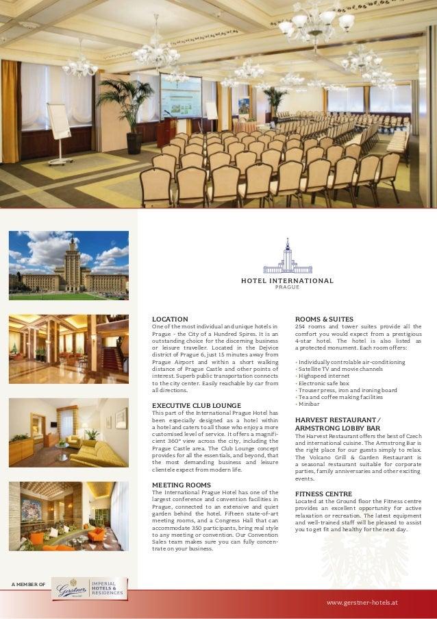 Hotel International Prague Fact Sheet